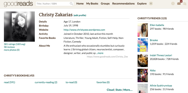 Click on the photo to go to my Goodreads profile!