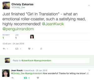 Book Quotes Review: Girl In Translation #2